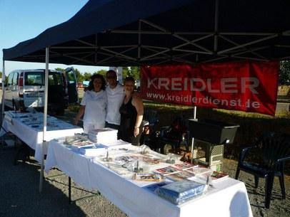 Verkaufsstand der Firma Kreidler-Dienst