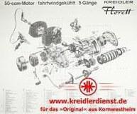 Explosionszeichnung Florett 5-Gang-Direktschaltung